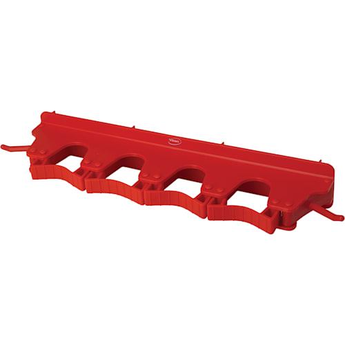 Long Rubber Grip Wall Bracket - Red