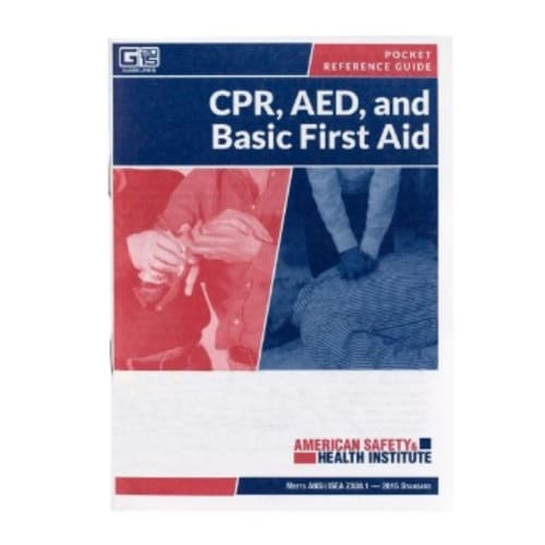 Pocket First Aid Guide, ANSI 2015
