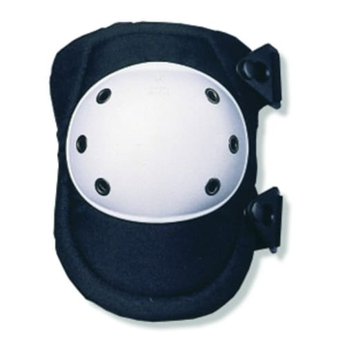 300  White Cap Rounded Cap Knee Pad - Buckle