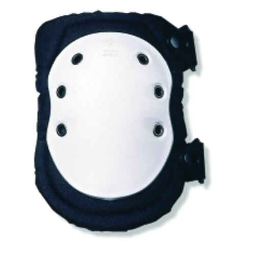 315  White Cap Long Textured Hard Cap Knee Pad - Buckle
