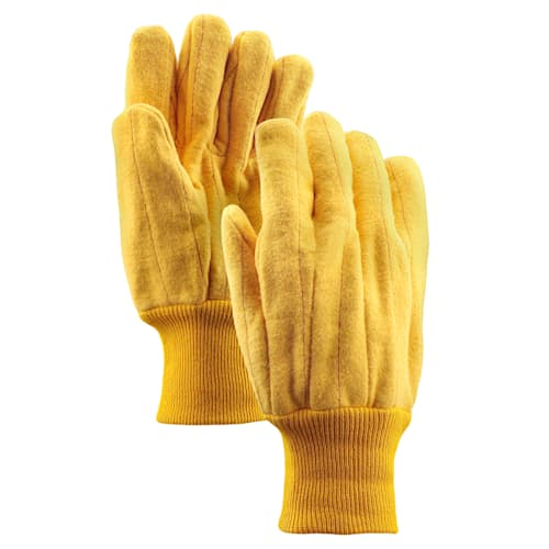 18 oz. Cotton Double Palm Chore Gloves with Knit Wrist Cuff