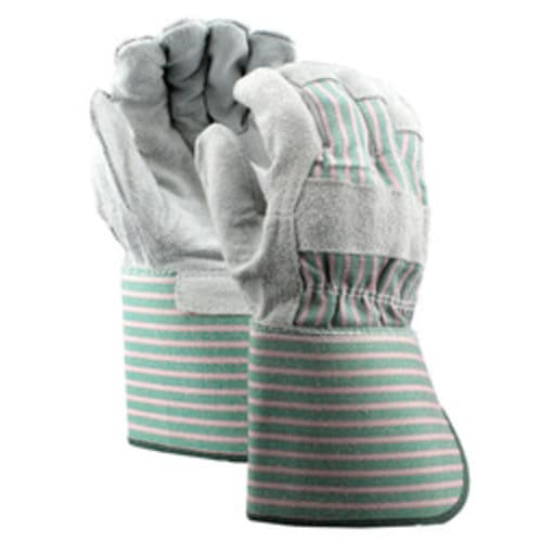 Leather Palm Gloves with Gauntlet Cuff, Split Shoulder