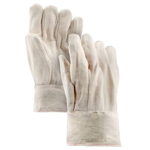 18 oz. Cotton Double Palm Gloves with Band Top Cuff