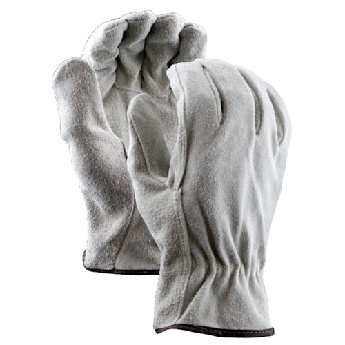 Insulated Split Leather Drivers Gloves with Straight Thumb