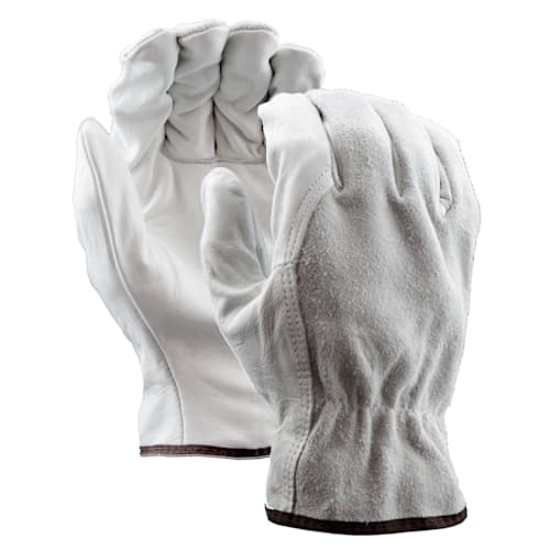 Leather Drivers Gloves, Split Leather Back, Wing Thumb