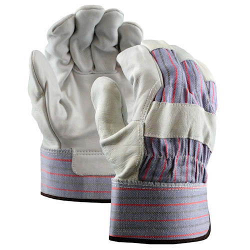 Grain Leather Palm Gloves with Safety Cuff
