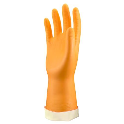 Orange Neoprene/Latex, Flocked Lined, 28 mil, Honeycomb Grip