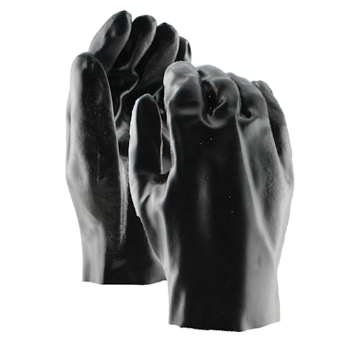 "Black PVC Coated 10"" Gloves"