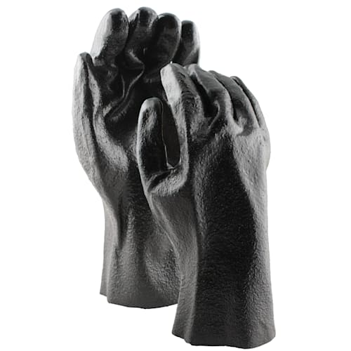 "Black PVC Coated 12"" Gloves with Pimple Finish"