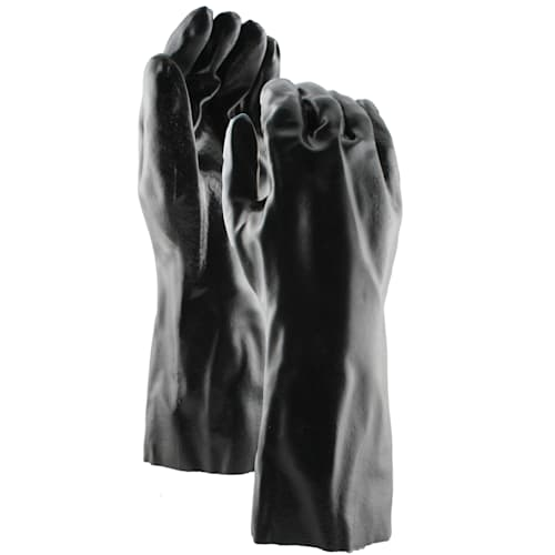 "Black PVC Coated 14"" Gloves"