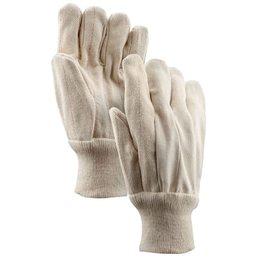 22oz. Cotton Double Palm Gloves with Knit Wrist Cuff