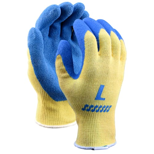 Kevlar Glove with Blue Crinkle Rubber Coating, Cut Level A2