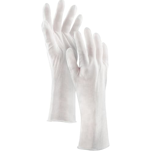 "Lightweight Lisle Gloves, 14"" Length, 100% Cotton"