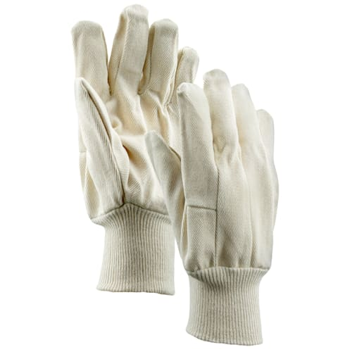 10 oz. Cotton Single Palm Gloves with Knit Wrist Cuff