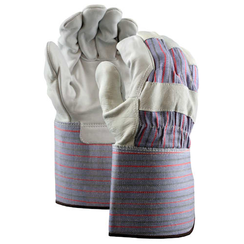 Grain Leather Palm Gloves with Gauntlet Cuff