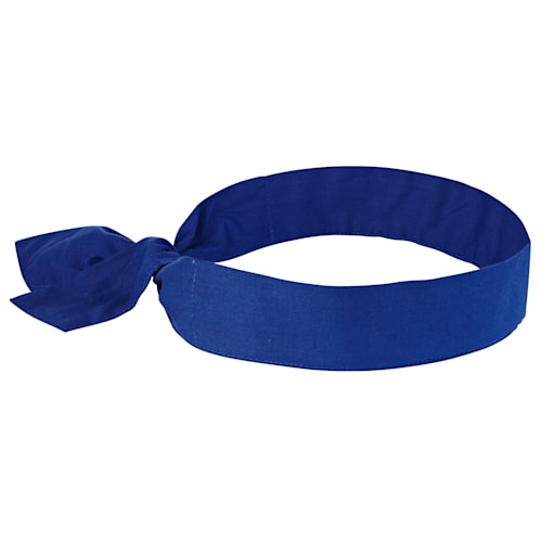6700  Solid Blue Evaporative Cooling Bandana - Tie