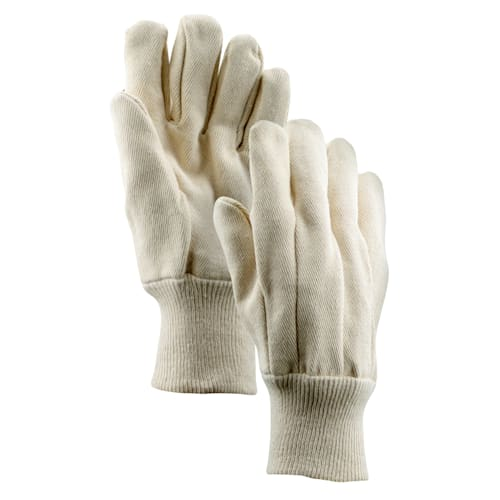 16 oz. Cotton Double Palm Gloves with Knit Wrist Cuff