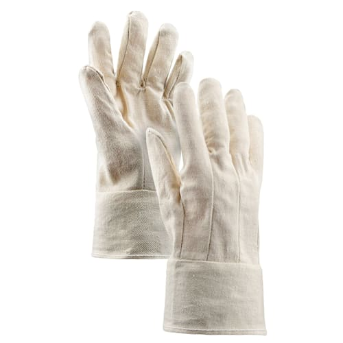 8 oz. Cotton Single Palm Gloves with Band Top Cuff