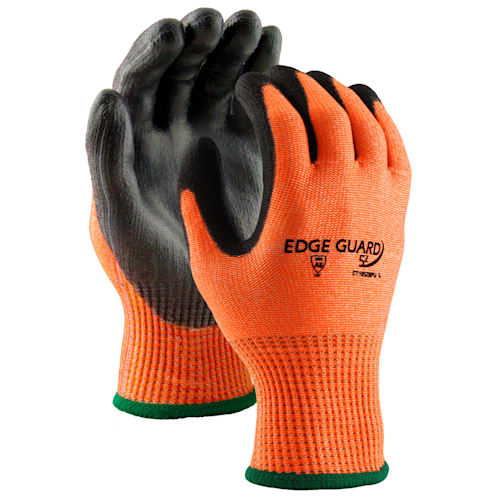 EdgeGuard5z™ Hi Viz Cut Resistant Glove with PU Coating, Cut Level A5