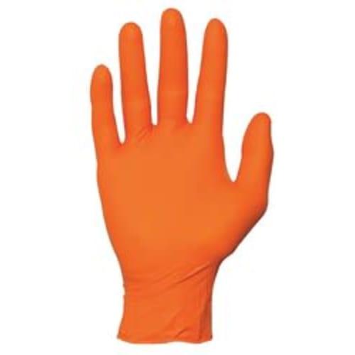 Advance Fit Orange Disposable Nitrile Gloves