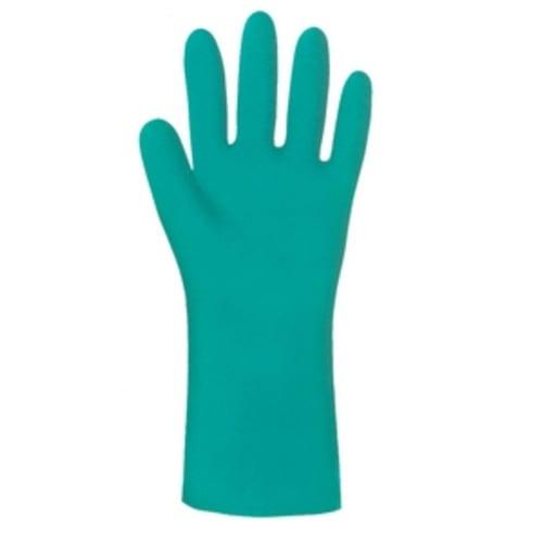 SHOWA 727-07 Chemical Resistant Gloves,Nitrile,S,PR