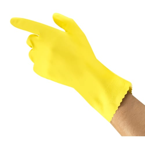 Flock-Lined Natural Latex Gloves