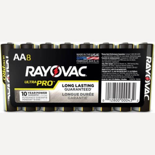 Rayovac UltraPro Alkaline Shrink-Wrapped AA 8-Pack