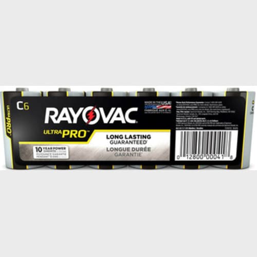 Rayovac UltraPro Alkaline Shrink-Wrapped C 6-Pack
