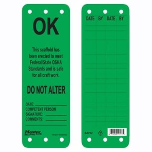 SCAFFOLDING TAG, OK TO USE