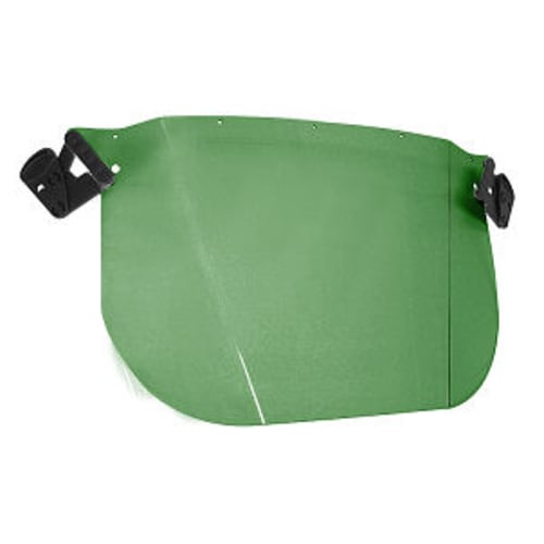 VISOR,GREEN HARD HAT