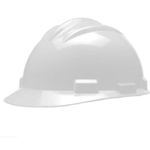 Model S61 Hard Hats, White, Pinlock, Cotton Browpad