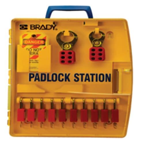 Padlock Station with Safety Padlocks