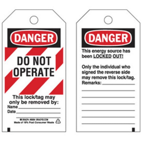 Striped Lockout Tags
