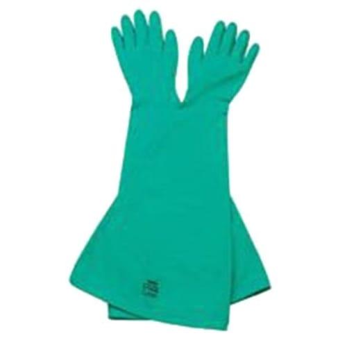 Nitri-Box Ambidextrous Drybox Gloves, Size 10.5, Nitrile, Green