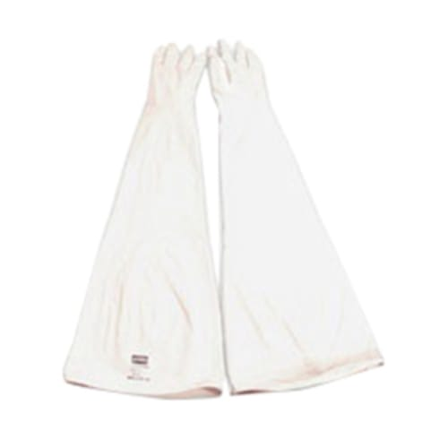 Ambidextrous Drybox Gloves, Size 9.75, Hypalon, White