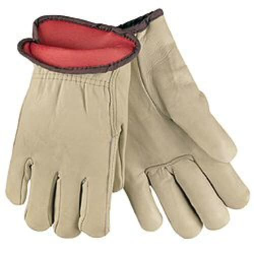 Insulated Fleece/Foam Cow Leather Drivers Gloves