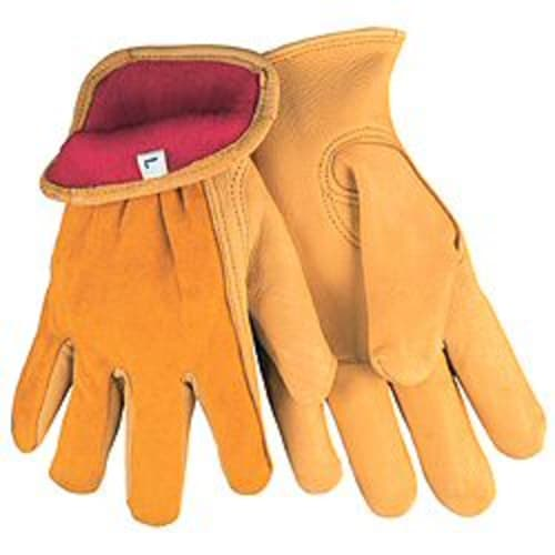 Insulated Fleece Deerskin Leather Drivers Gloves