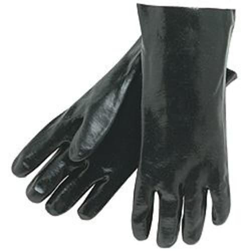 "Black PVC Coated 14"" Gloves"