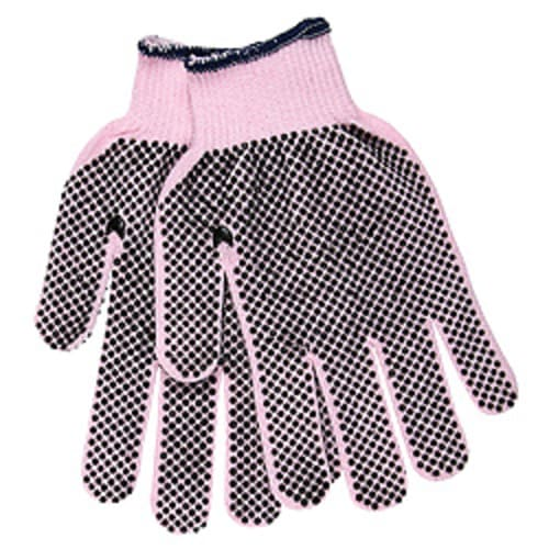 Pink Dotted Cotton/Polyester Glove