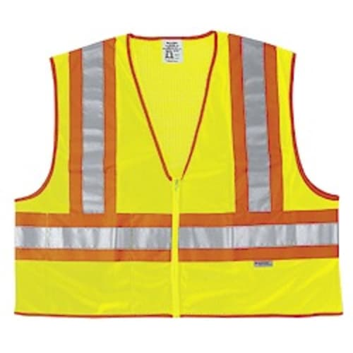 Class 2 Safety Vests, Two-Tone with Zipper