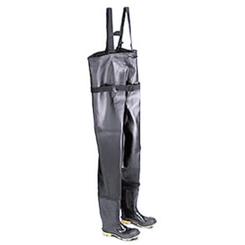 Chest waders with plain toe & cleated sole