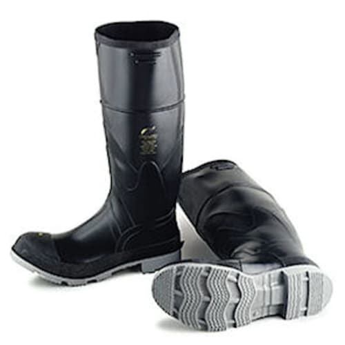 Polyblend knee boots, steel toe