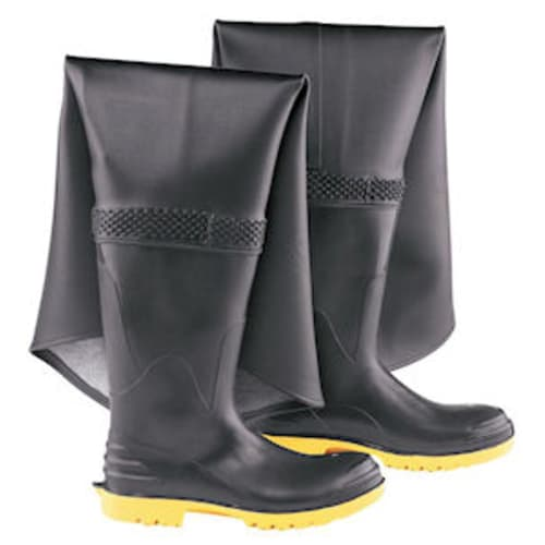 Hip waders with stell toe and midsole