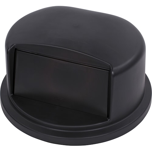 LID,DOME ROUND BLACK, 32 GALLON