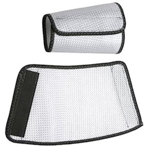"Cane Nylon Mesh Sleeves 7"" White"