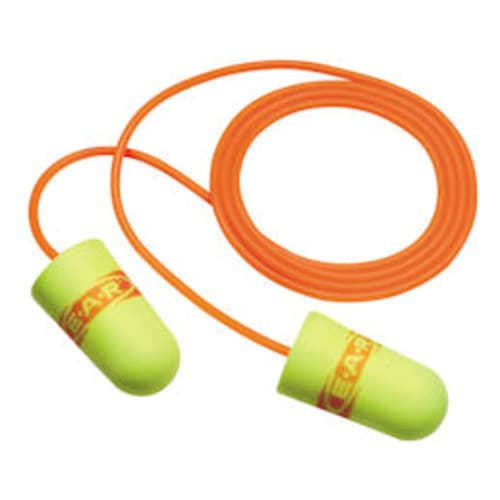 E-A-R E-A-Rsoft SuperFit Corded Earplugs, 3111254 in Poly Bag, Regular Size
