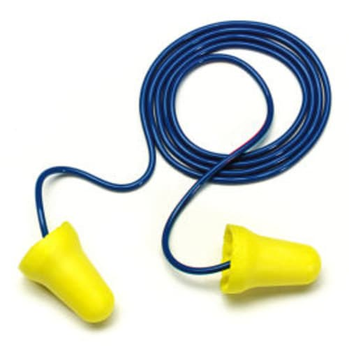 With its bell-shaped design, 3M  E-A-R E-Z-Fit corded foam earplugs provide a low-pressure seal for excellent attenuation and reliable, comfortable hearing protection.  Rolls down easily and expands into the ear canal.