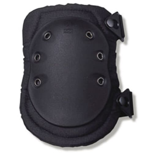 335  Black Cap Slip Resistant Rubber Cap Knee Pad - Buckle