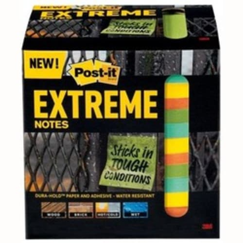 "Assorted Colors 3"" X 3"" Post-It Extreme Notes"