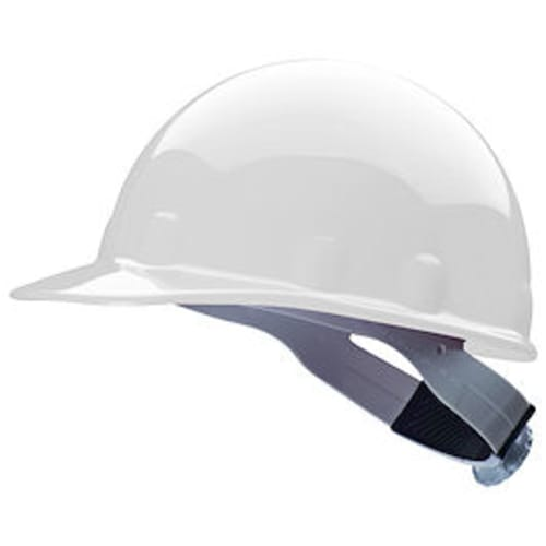 SuperEight E2 Non-Slotted Hard Hat, 6-1/2 - 8 in, Cap Style, White